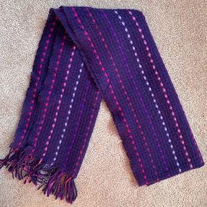 Purple fringe scarf